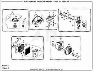 Homelite Ps80516b Powerstroke Pressure Washer Parts