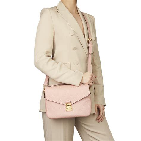 louis vuitton rose poudre monogram empreinte leather pochette metis  pink lyst