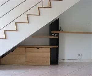 Bureau Sous Escalier : amnagement bureau sous escalier awesome installer un ~ Farleysfitness.com Idées de Décoration
