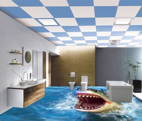 Online Buy Wholesale 3d bathroom tile floor from China 3d