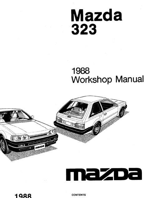 small engine repair manuals free download 1998 mazda mpv head up display complete 1988 mazda 323 workshop manual belt mechanical distributor