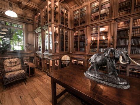 jim cardons stunning custom built library inspired