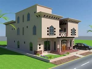 Beautiful Luxury Saudi Arabian Villa 3D front elevation