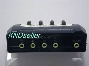 4 Port 3 5mm Stereo Manual Sharing Switch Aux Audio
