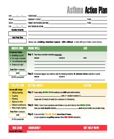 forms of asthma sle asthma action plan sarahepps
