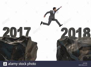 Businessman jumping from 2017 to 2018 Stock Photo, Royalty ...