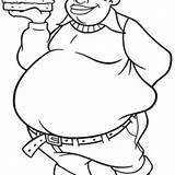 Fat Coloring Pages Albert Boy Drawing Stupid Burger Bring Getdrawings Netart sketch template