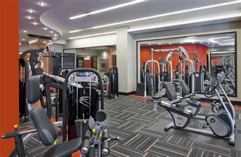 Apartment Fitness Center by Galaxy Apartments Open In Downtown Silver Md