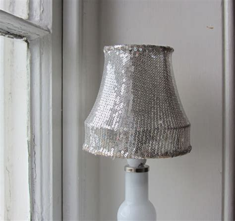 silver sequin l shade small silver sequin lshade recycled upcycled repurposed