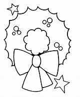 Wreath Coloring Christmas Pages Printables Easy Sheet Wallpapers9 Preschool sketch template