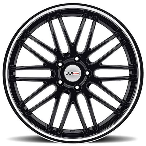 wheels hawk 19 20 quot staggered cray wheels hawk gloss black with chrome lip multi rims cry012 5