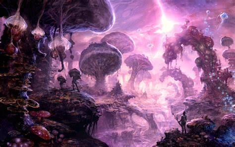 landscape artwork nature scenery wallpaper