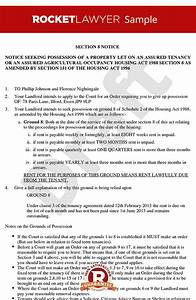 Section 8 notice section 8 notice to quit section 8 for Section 8 documents