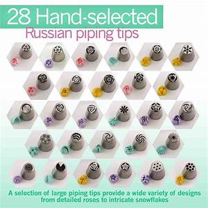 Stainless Steel Piping Tips Chart Cake Cupcake Decorator