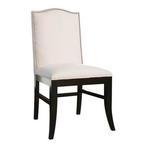 abbyson living royal linen nailhead trim dining chair in