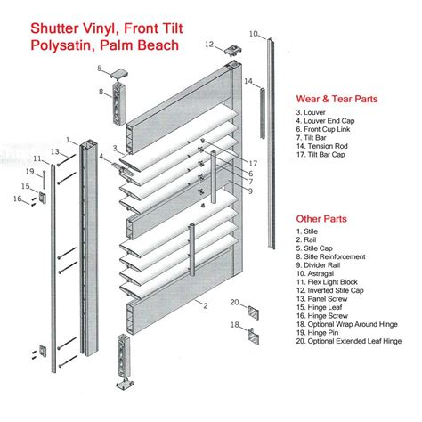 diagrams  window coverings blinds parts