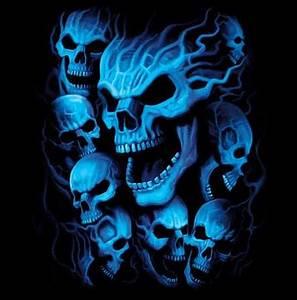 Blue Skulls Fantasy Tshirt – TshirtNow