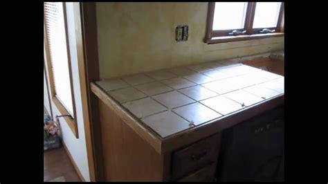 ceramic tile kitchen counter top youtube