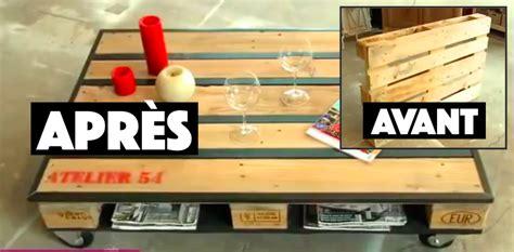 fabriquer bureau en palette tuto comment fabriquer une table basse avec une palette