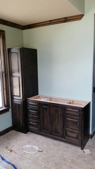 custom vanity wood doors  stains  pinterest