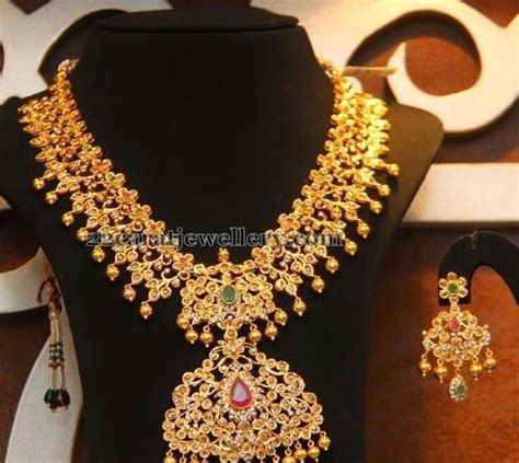 malabar gold broad haram jewellery necklace simple