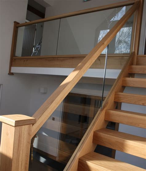 Glass Banisters For Stairs by Glass Stair Banisters Stairs Oak Stairs Glass Stairs