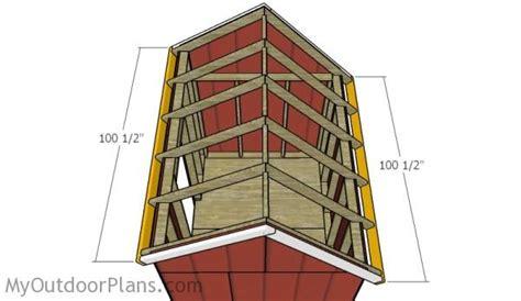 6x8 saltbox shed roof plans myoutdoorplans free