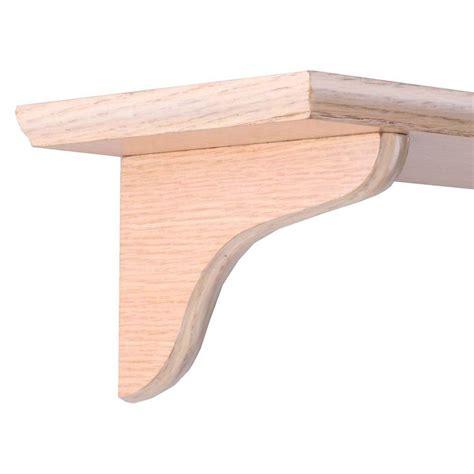 oak shelf brackets knape vogt 7 in oak wood decorative shelf corbel 0138