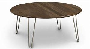circle furniture essential cocktail table solid walnut With circle furniture coffee tables