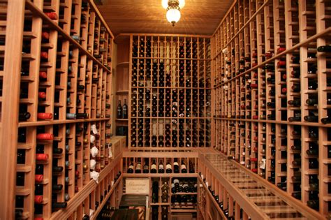 south tampa custom home mediterranean wine cellar