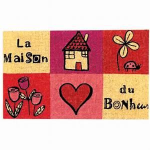 Paillasson Maison Du Monde : derri re la porte paillasson coco la maison du bonheur 40 x 70 x 1 5 cm paillasson derri re la ~ Teatrodelosmanantiales.com Idées de Décoration