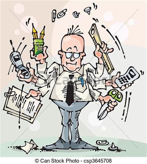 commis de bureau illustration de dealer broker manager homme affaires et