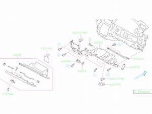 Subaru Legacy Cushion Pocket  Instrument  Glove  Panel