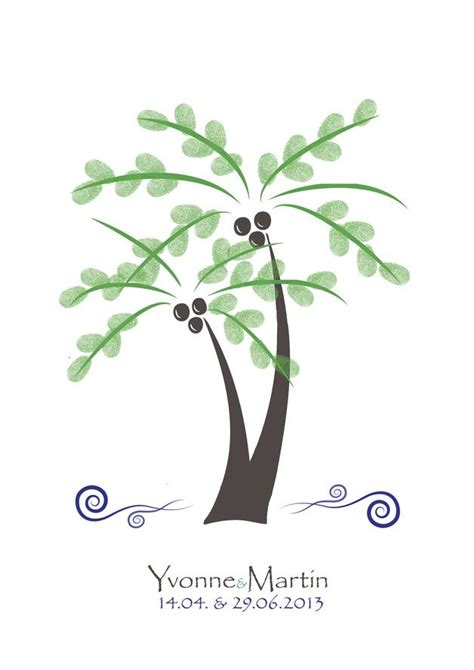 palme wedding tree fingerabdruck gaestebuch
