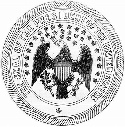 Seal Presidential Coloring 1850 President United States