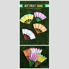 Diy Fruit Fans Kids Craft  The Idea Room