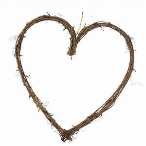 Rustic Heart Wreath - 30cm - Christmas Time UK