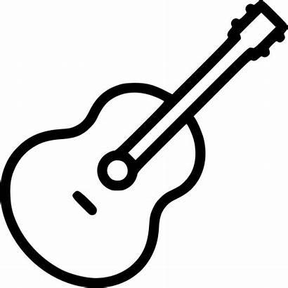 Guitar Acoustic Icon Sound Svg Instrument Audio