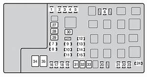 Toyota Tacoma  2010 - 2011  - Fuse Box Diagram