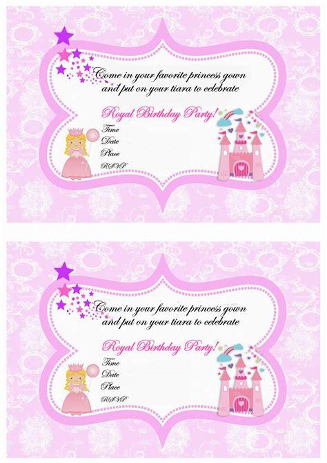 princess birthday invitations birthday printable