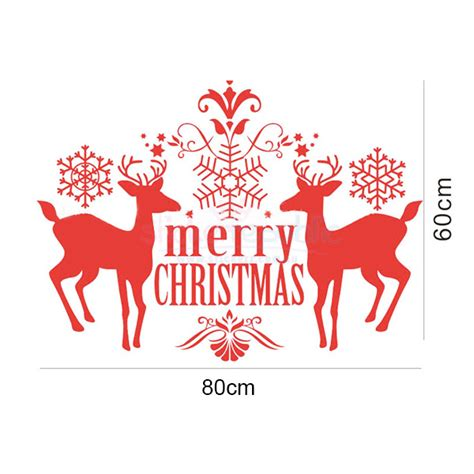 merry christmas reindeer white wall decal sticker