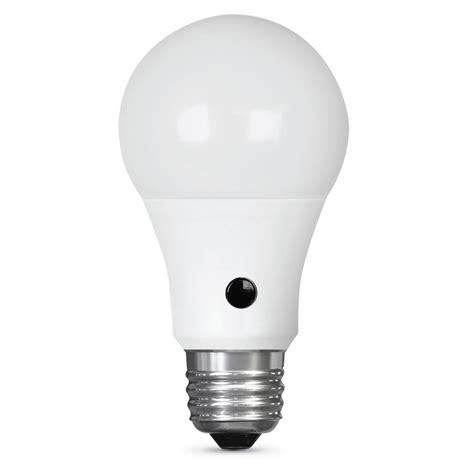 dusk to light feit electric intellibulb 60w equivalent soft white 2700k