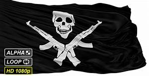 Isolated Somali Pirate Flag With Skull and AK47 by fckncg ...
