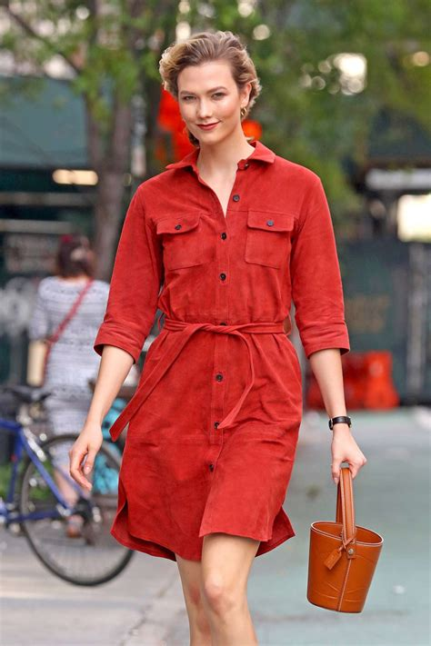 Karlie Kloss Wearing Red Dress Nyc Gotceleb