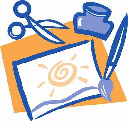 Glue Scissors Clip Clipart Paintbrush Artwork Craft