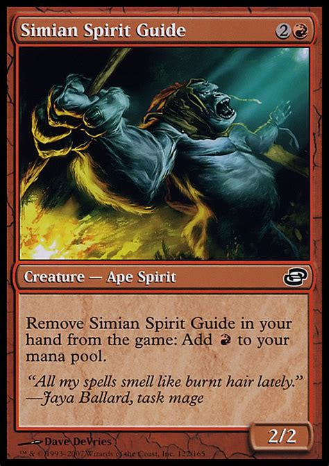 Mtg Deck Tips by Simian Spirit Guide Creature Cards Mtg Salvation