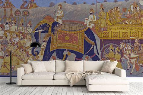 indian mural wallpaper wall decor