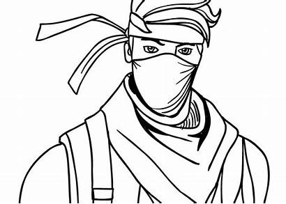 Fortnite Coloring Ninja Skin Knight