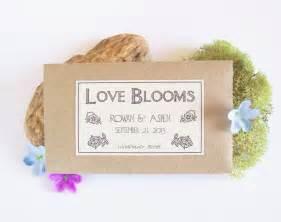 garden bridal shower favors flower seed