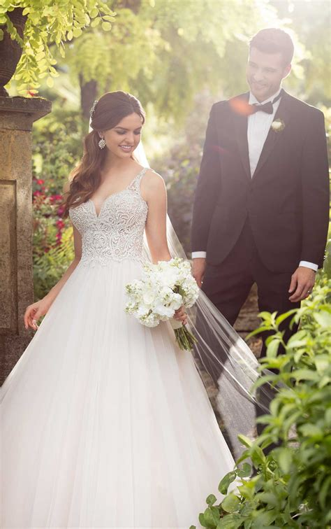 modern fairytale wedding dress essense  australia